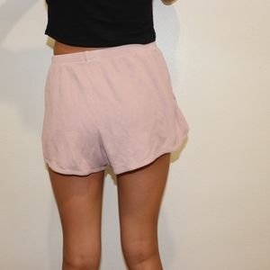 Pink Lisette Thermal Shorts From Brandy Melville